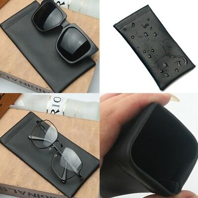 PU Leather Black Sunglasses Glasses Sleeve Case Soft Specs Reading Slim MouthNE