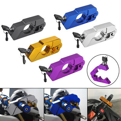 Universal Colourful Handlebar Grip Brake Security Lock Anti Theft For Motorcycle