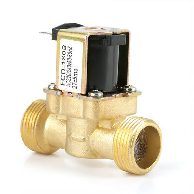 AC 220V G3/4 2-Way Normal Closed Water Control Electric Solenoid Valve Brass