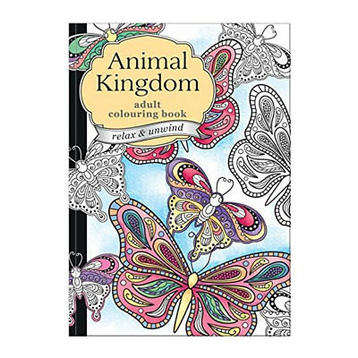 Animal Adult Colouring Book Relax Therapy  Drawing Art Pattern Designs 60 Pages