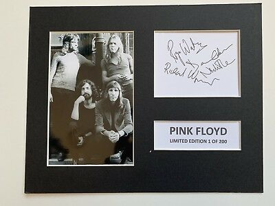 Limited Edition PINK FLOYD  Signed Mount Display AUTOGRAPH ROCK MUSIC