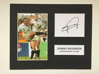 Limited Edition JOHNNY WILKINSON Signed Mount Display Rugby AUTOGRAPH