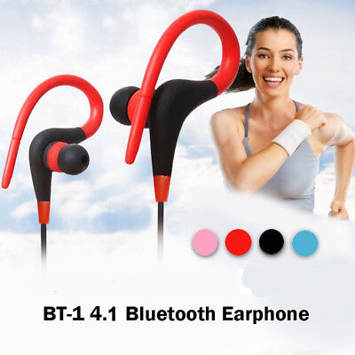 In-Ear Bluetooth Sport Running Earphone Earbuds Over ear Hook Headphone w/MIC US