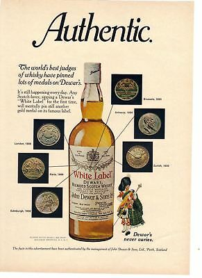 1977 vintage print ad Dewar's White Label Authentic Blended Scotch Whiskey