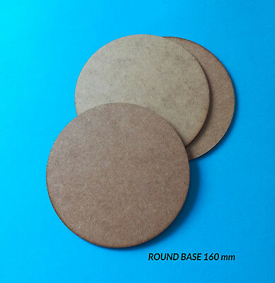 160 mm Round Laser Cut MDF Miniature Bases x3
