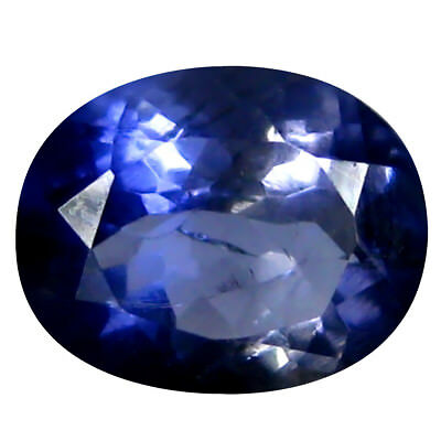 1.27 ct AAA Romantic Oval Shape (8 x 7 mm) Iolite Natural Loose Gemstone