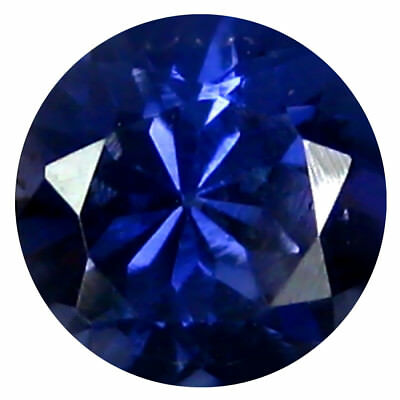 0.69 ct AAA Shimmering Round Shape (6 x 6 mm) Iolite Natural Loose Gemstone