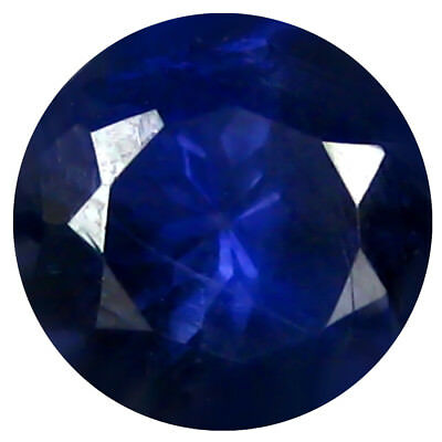 1.49 ct AAA Dazzling Round Shape (8 x 8 mm) Iolite Natural Loose Gemstone