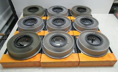 Lot of 9 Kodak Transvue 80 slot 35mm Slide Projector Carousel Trays with Boxes