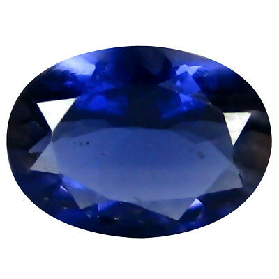 1.00 ct AAA Phenomenal Oval Shape (9 x 7 mm) Iolite Natural Loose Gemstone