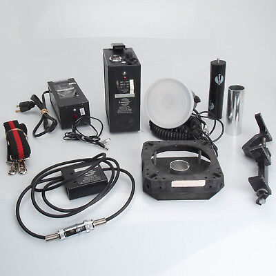 Lumedyne Qflash 067Q 400WS, 2 Battery Charger, Modeling Head, MANY EXTRAS Bundle