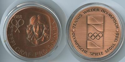 GY087 - Medaille Steffi Graf Pro Olympia - Seoul 1988 Tennis Olympische Spiele