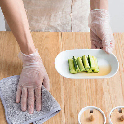 Disposable Sanitary Plastic Glove Restaurant Home  Cook Kitchen Food LD