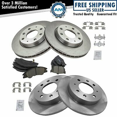 Fits 2004-2009 Kia Spectra Spectra5 Front Drill Slot Brake Rotors+Ceramic Pads