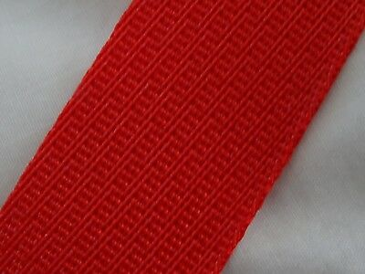 red webbing belting tape 4m