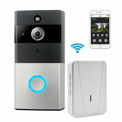 WIFI Video Doorbell, Smart Doorbell 720P HD Security Camera Chime Night Vision