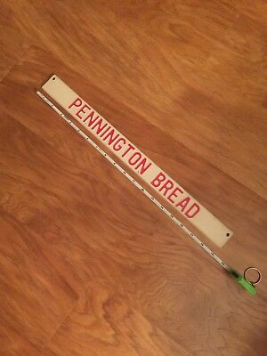OLD Pennington Bread Door Handle Metal Plate Advertising Sign push pull RARE