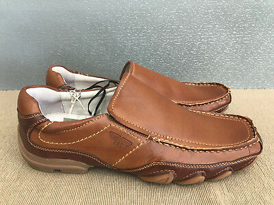 5801e08416e97 BNWT Mens Teenage Boys Size 7 Rivers Tan Slip on Leather Look Casual Shoes