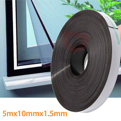 5M 16FT Self Adhesive Flexible Soft Rubber Magnetic Tape Magnet DIY Craft Strip