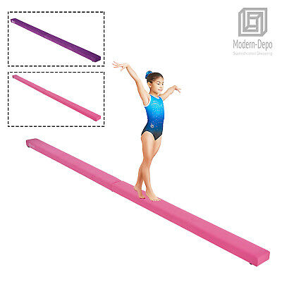 7ft / 8ft Gymnastics Folding Balance Beam Sectional Floor Wood Beam for Kids