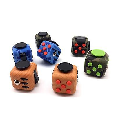 Fidget Cube Stress Anxiety Desk Toy Relief 6 Sides Gift For Adult Kids Bs
