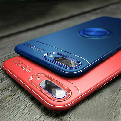 For Huawei Honor 10 9 8 Lite Magnetic Ring Stand Case Soft TPU Shockproof Cover