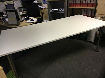 office furniture 2 meter boardroom table in white