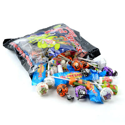(5,29€/1kg) Monster Treats, Lolli, Lutscher, Brause-Bonbon, 480g Beutel