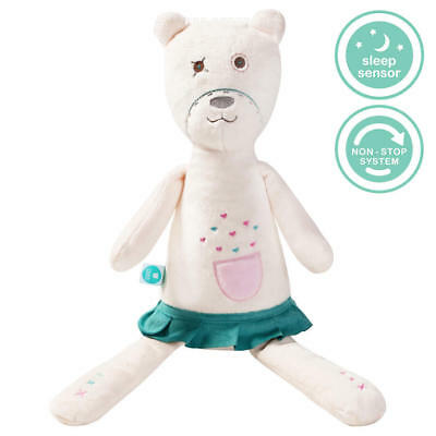 myHummy  Pearl White Noise Teddy White Noise Toy / Cry Sensor & NonStop System