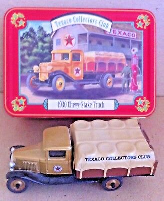 Texaco Collectors Club 1930 Chevy 1-1/2 Ton Stake Truck In Tin 1:43