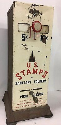 Old Rusty Vintage Metal U.S. Postage Stamp 5/10 Cent Vending Machine Coin Op