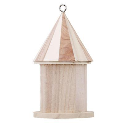 Hanging Nesting Box Wooden Bird House Birdhouse Nest Home Garden Decor W