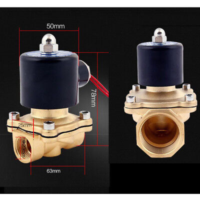 "1PCS 1/2"" NPT 12V DC Brass Electric Solenoid Valve Water Air Gas NC 12VDC"