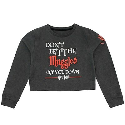 Harry Potter Crop Sweater Top | Girls Muggles Tee | Kids Harry Potter Cropped T-