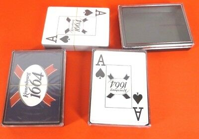 3 Packs Kronenbourg 1664 Large Index Playing Cards Decks Good Quality In Cases