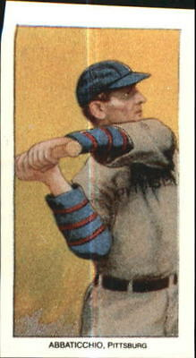 1909-11 T206 Reprint Baseball Card #1 Ed Abbaticchio/Blue Sleeves