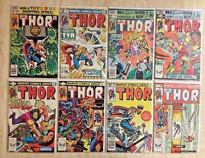 Thor: Lot Of 30 Between 300 And 351 | 337 Beta Ray Bill! | 1980-1985 | Fn- To Vf