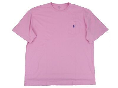 Polo Ralph Lauren Men's Big & Tall Classic Fit Pocket T-Shirt Crew Neck Pink