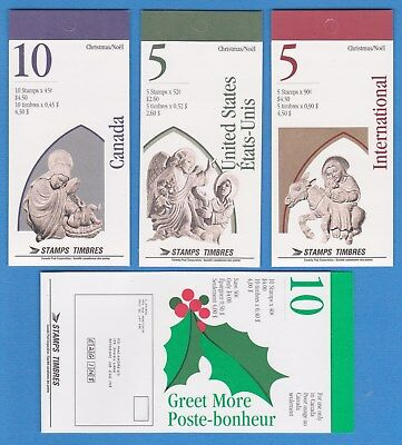 Canada Mint 4 Booklets 1585-1588 Mnh Stamps. Bk 186,187,188,189.Christmas.