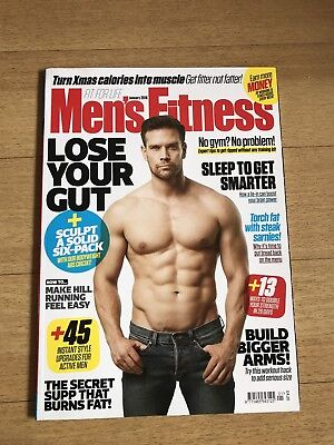 Mens Fitness Magazine January 2018 Lose Your Gut,sculpt A Solid Six Pack,