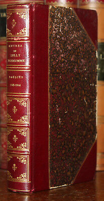 1910's Oeuvres De Sully PRUDHOMME Poesies 1865-1866 Stances Poemes Half Leather