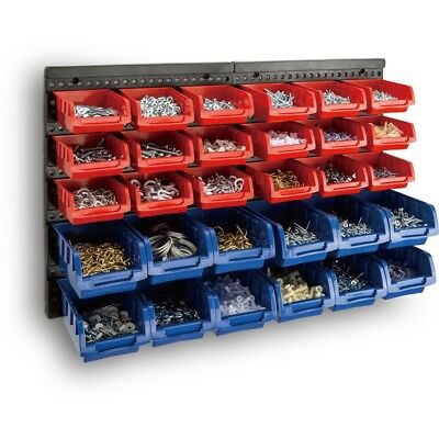30 Bin Wall Mounted Rack Storage Organiser Shed Work Bench Garage