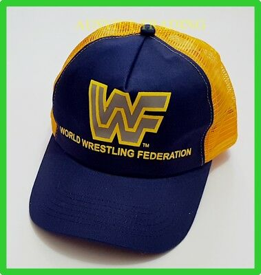 NEW WWF TRUCKER HAT CAP WORLD WRESTLING FEDERATION Mens Womens Unisex
