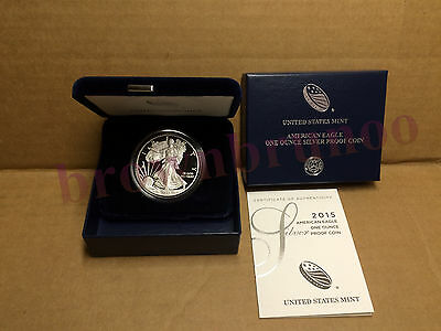 2015 W American Eagle One Ounce SILVER PROOF West Point Coin 1 Oz Box & COA ES6
