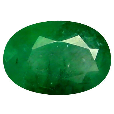 0.51 ct Oval (6 x 4 mm) Unheated Green Colombian Emerald Natural Loose Gemstone