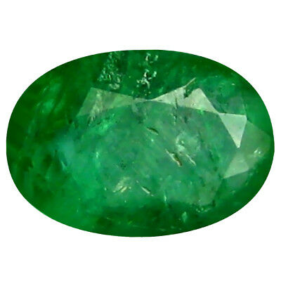 0.42 ct Oval (6 x 4 mm) Unheated Green Colombian Emerald Natural Loose Gemstone
