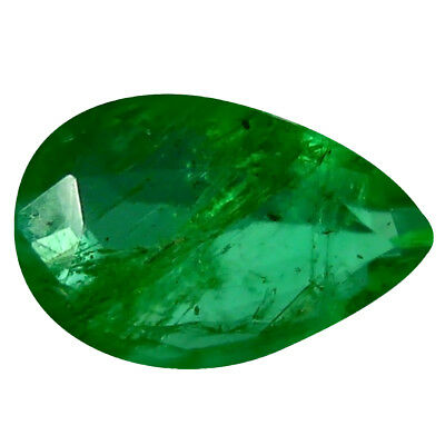 0.27 ct Pear (5 x 3 mm) Unheated Green Colombian Emerald Natural Loose Gemstone