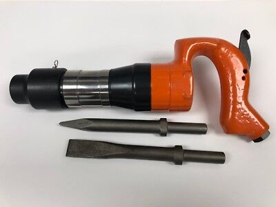 """Pneumatic Air Chipping Hammer 2"""" Stroke  652 R NEW +2 Bits"""