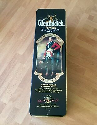 Glenfiddich Malt Whisky  Empty Bottle Tin - Clan Sinclair With History Insert.