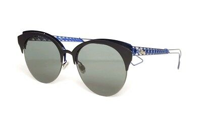 Christian Dior Diorama Club Col. G5V 2K Matt Black-Blue   Green lenses New 35f85ddf3e